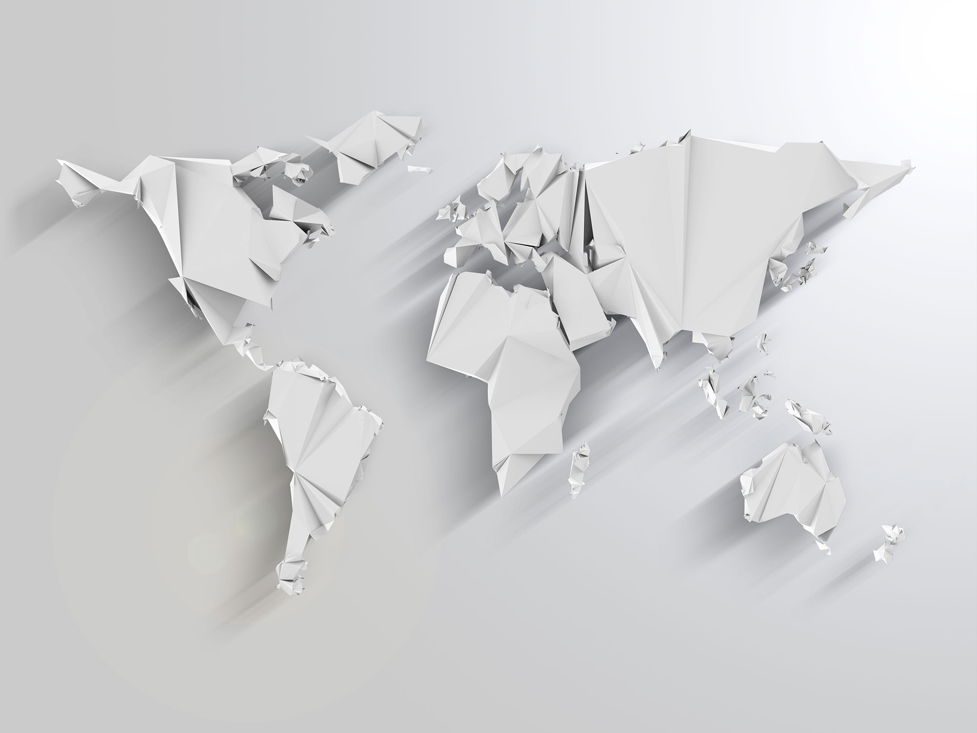 Weltkarte Papier